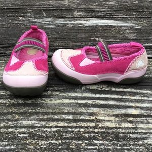 CROCS Dawson Girls Pink Suede Mary Jane Shoes  9